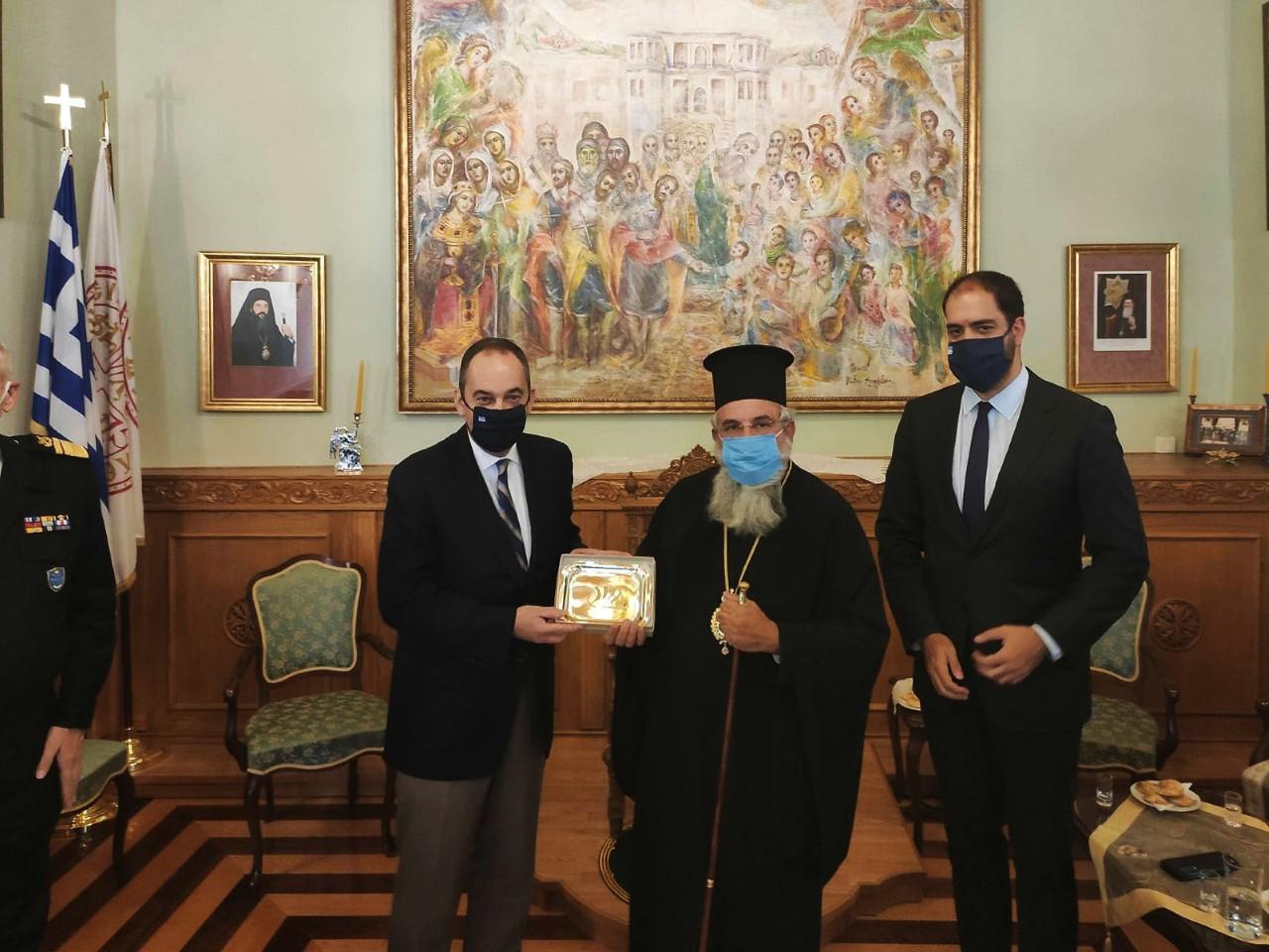 Ο Υπουργός Ναυτιλίας κ. Πλακιωτάκης στην Ι. Μητρόπολη Ρεθύμνης και Αυλοποτάμου