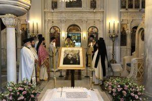 Μνημόσυνο για τον Χριστόδουλο στο Α ´ νεκροταφείο επ´ευκαιρία του Οσίου Χριστοδούλου