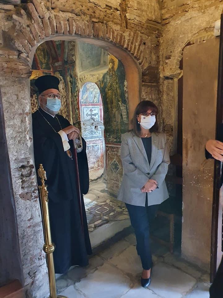 Η Πρόεδρος της Δημοκρατίας κ.Σακελλαροπούλου στη Μονή Βλατάδων Θεσσαλονίκης