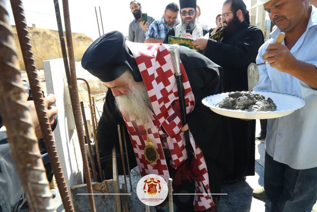 Θεμέλιος λίθος στον Ιερό Ναό Τριών Ιεραρχών της Ιορδανίας