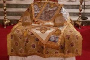 Η εορτή του Αγίου Νεκταρίου στον Μητροπολιτικό ναό Χίου όπου χειροτονήθηκε διάκονος