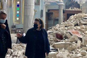 Υπ. Πολιτισμού Λίνα Μενδώνη: Αυτοψία στα μνημεία της Σάμου που επλήγησαν από τον σεισμό