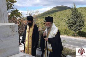Επιμνημόσυνη δέηση στο μνημείο των 118 στο Μονοδένδρι από τον Μητροπολίτη Σπάρτης