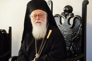 Τα συλλυπητήρια  του Αλβανίας Αναστασίου από την Εντατική του Ευαγγελισμού προς την Σερβική Εκκλησία για την εκδημία του Πατριάρχη Ειρηναίου