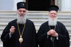Θερμή χειρόγραφη επιστολή του Οικουμενικού Πατριάρχη προς τον Πατριάρχη Σερβίας Ειρηναίο.