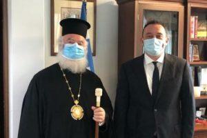 Στον Υφυπ. Αποδήμου Ελληνισμού Κ. Βλάση ο Πατριάρχης Αλεξανδρείας Θεόδωρος