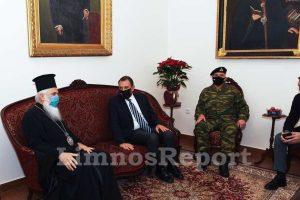 H επίσκεψη του Υπουργού Εθνικής 'Αμυνας Νίκου Παναγιωτόπουλου στον Μητροπολίτη Λήμνου και Αγίου Ευστρατίου
