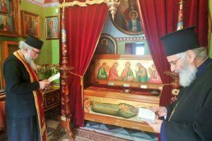 Παράκληση για τον Μητροπολίτη Καστορίας Σεραφείμ στην Κάλυμνο