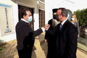 Ο Υπουργός Οικονομικών Χρήστος Σταικούρας με τον Σεβ. Φθιώτιδος Συμεών στην «ΑΠΟΣΤΟΛΗ»