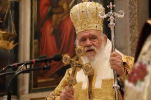 Η Χριστουγεννιάτικη θεία λειτουργία στη Μητρόπολη  Αθηνών