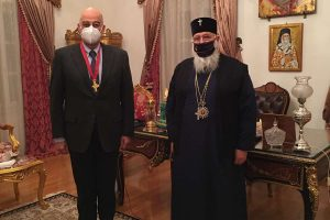 Συνάντηση του Σεβ. Κερκύρας Νεκταρίου με τον Υπουργό Εξωτερικών Νίκο Δένδια  που επισκέφθηκε  την γενέτειρά  του