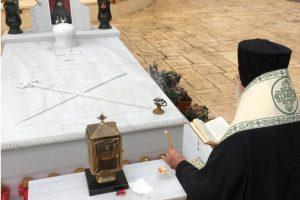 Τρισάγιο επί του τάφου του μακαριστού Μητρ. Λαγκαδά