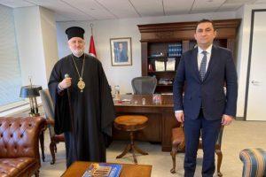 Ο Αρχιεπίσκοπος Αμερικής στον Γενικό Πρόξενο της Τουρκίας