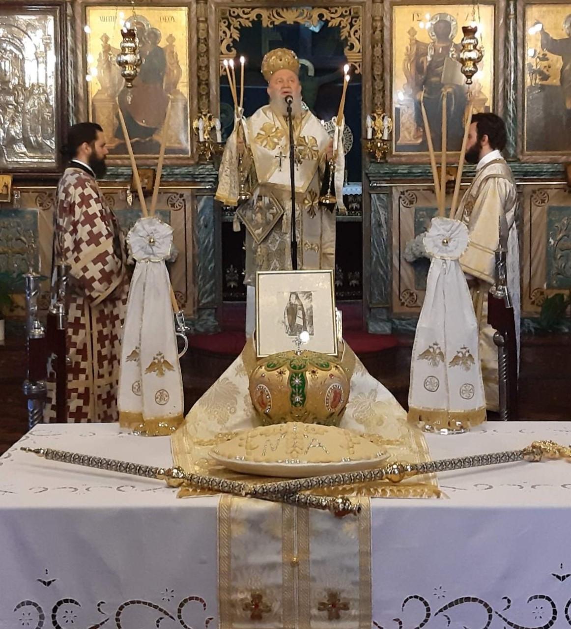 Μνημόσυνο στον Εθνογέρτη Αρχιεπίσκοπο Ευβοίας Νεόφυτο Αδάμ στα Φύλλα Χαλκίδος