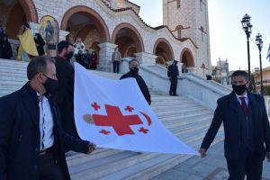 Ιστορικές σημαίες της Επανάστασης υψώθηκαν στην Ι.Μ. Καλαμαριάς