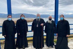 Στην Λίμνη Κάρλα ο Λαρίσης Ιερώνυμος με κληρικούς -συνεργάτες του