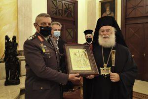 Θερμή υποδοχή στον Α/ΓΕΕΘΑ Κ. Φλώρο από τον Πατριάρχη Αλεξανδρείας Θεόδωρο