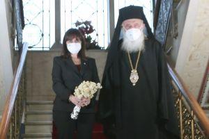 Επίσκεψη της Προέδρου της Δημοκρατίας στον Αρχιεπίσκοπο