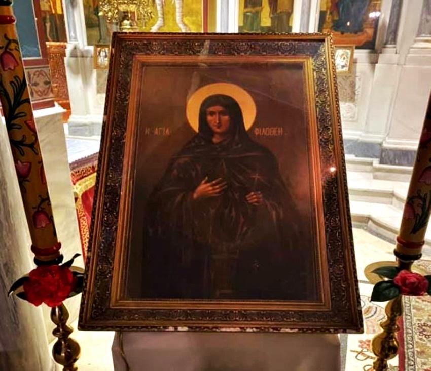 Αγρυπνία για την Αγία Φιλοθέη στη Νέα Ιωνία