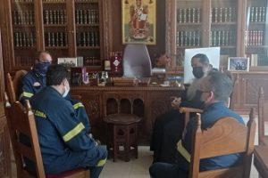 Στον Μητροπολίτη Φθιώτιδος Συμεών η νέα ηγεσία της Πυροσβεστικής στη Λαμία