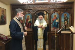 Τρισάγιο στη μνήμη του Ιερέα Ηλία Στεφόπουλου από τον Μητροπολίτη Χαλκίδος Χρυσόστομο