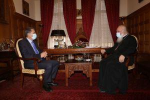 Ο Υφυπουργός Παιδείας Α. Συρίγος στον Αρχιεπίσκοπο