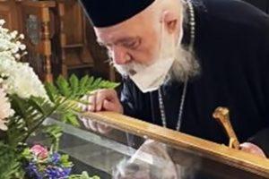 Η εκπλήρωση του τάματος από τον Αρχιεπίσκοπο κ.Ιερώνυμο στον εορτάζοντα Όσιο Λουκά τον Στειριώτη