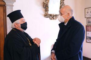 Συνάντηση Μητροπολίτη Ιταλίας με τον Υπ.Εξ. κ.Νίκο Δένδια