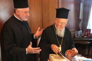 Στο Φανάρι ο Αρχιεπίσκοπος Αμερικής για την ενθρόνιση(!) του νέου Χαλκηδόνος