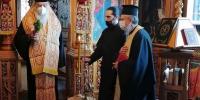 Ο Σεβ. Περιστερίου κ. Κλήμης τέλεσε Αγιασμό  για τον μήνα Μάρτιο στο Παρεκκλήσιο του Επισκοπείου.
