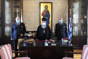 Ο νέος Αστυνομικός Διευθυντής Ρεθύμνης επισκέφθηκε εθιμοτυπικά τον Σεβ. Μητροπολίτη  Ρεθύμνης και Αυλοποτάμου  κ. Ευγένιο