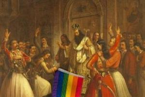 Προσβολή του Ιερού Συμβόλου της Επανάστασης από τους ΛΟΑΤΚΙ
