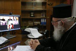 Ο Αρχιεπίσκοπος στην εκδήλωση για τη συμβολή της Βοιωτικής Εκκλησίας στην Επανάσταση