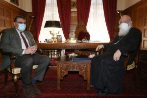 Ο πρόεδρος του Π.Ι.Σ. στον Αρχιεπίσκοπο Ιερώνυμο
