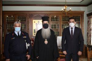 Ο Υπαρχηγός της ΕΛ.ΑΣ. επισκέφθηκε τον Σεβ. Φθιώτιδος Συμεών