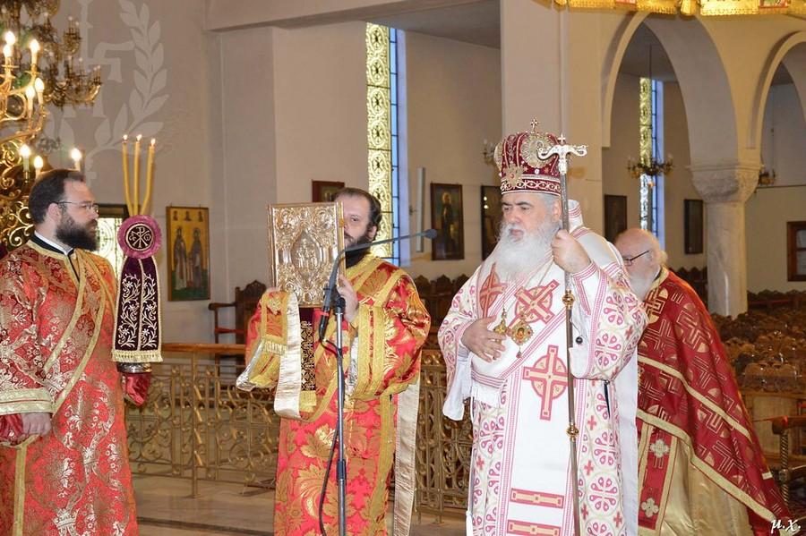 Αρχιερατική Θεία Λειτουργία στον Ι.Ν.Αγίων Θεοδώρων Συκεών στην Ι. Μητρόπολη Νεαπόλεως