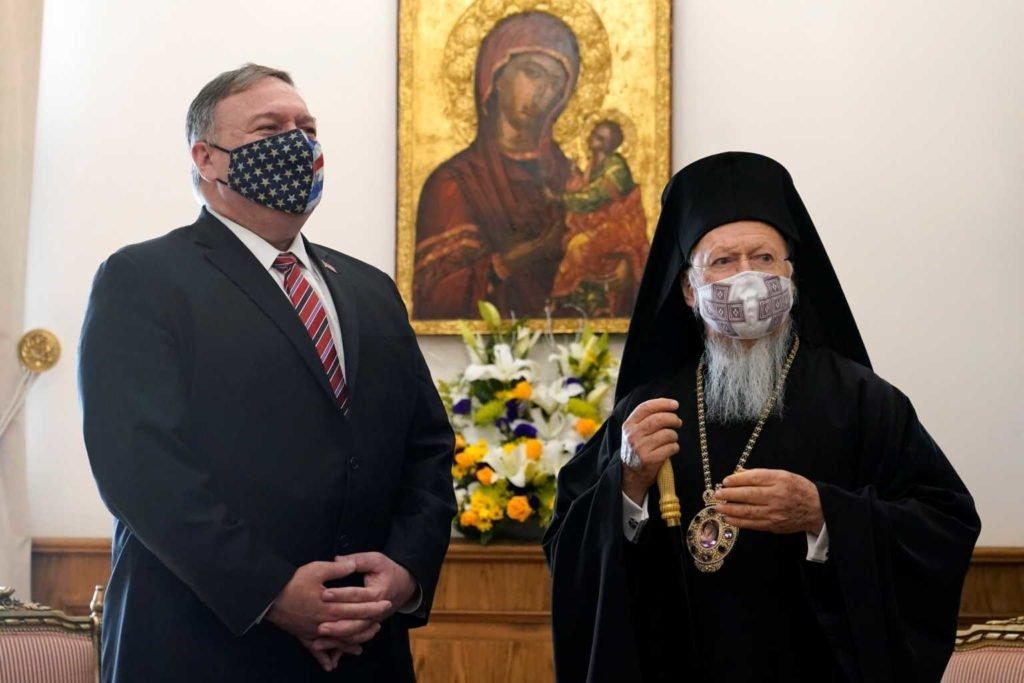 Ο Μάικ Πομπέο ευχήθηκε στον Πατριάρχη για τα γενέθλια του