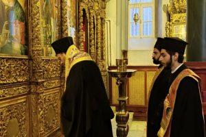Τρισάγιο για τον μακαριστό Γέροντα Νικαίας κυρό Κωνσταντίνου στην Χάλκη