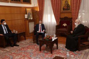 """Αρχιεπίσκοπος με Υπ. Υγείας και Περιφερειακό Διευθυντή Ευρώπης Π.Ο.Υ.: """"Εκκλησία και Πολιτεία έχουν καταλάβει την ανάγκη της συνεργασίας και έτσι προχωρούν"""""""