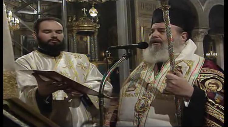 Ο Ακάθιστος Ύμνος το 2003, με τον Μακαριστό Αρχιεπίσκοπο Χριστόδουλο