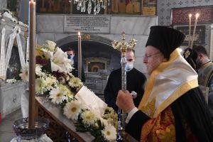 Ο Οικ. Πατριάρχης στο I. Αγίασμα της Παναγίας των Βλαχερνών