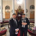 Εθιμοτυπική επίσκεψη του νέου Μητροπολίτη Προύσης Ιωακείμ,στη Συναγωγή και στον Μουφτή της Προύσας