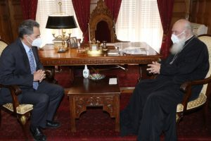 Συνάντηση Αρχιεπισκόπου με τον υφυπουργό Παιδείας κ.Συρίγο