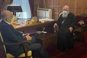 Η συγκινητική δήλωση του Νίκου Δένδια στον Αρχιεπίσκοπο: «Θα πάω να προσκυνήσω πρώτα  στο Φανάρι πριν πάω στην Άγκυρα»