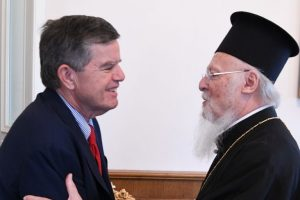 Ο Πολιτικός Διοικητής του Αγίου Όρους κ. Μαρτίνος στον Πατριάρχη Βαρθολομαίο