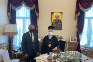 Συνάντηση Πατριάρχη Βαρθολομαίου με τον ΥΦΥΠΕΞ της Ουκρανίας
