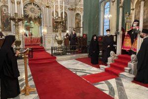Ο Οικ. Πατριάρχης στον Ι. Ναό Αγίων Κωνσταντίνου και Ελένης Σταυροδρομίου
