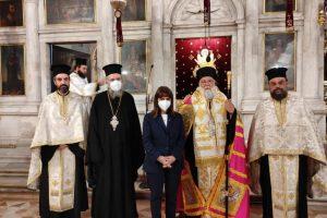 Η Πρόεδρος της Δημοκρατίας στον Ι. Ναό του Αγίου Σπυρίδωνα στην Κέρκυρα
