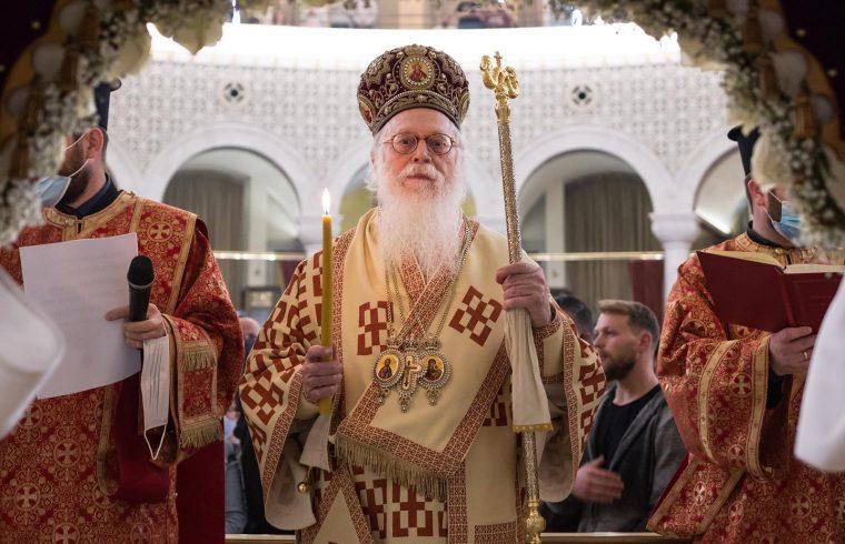 """Αλβανίας Αναστάσιος: """"Με την πανδημία πολλοί απομακρύνθηκαν λίγο από την Εκκλησία, προσοχή, όχι στην απομόνωση…"""""""