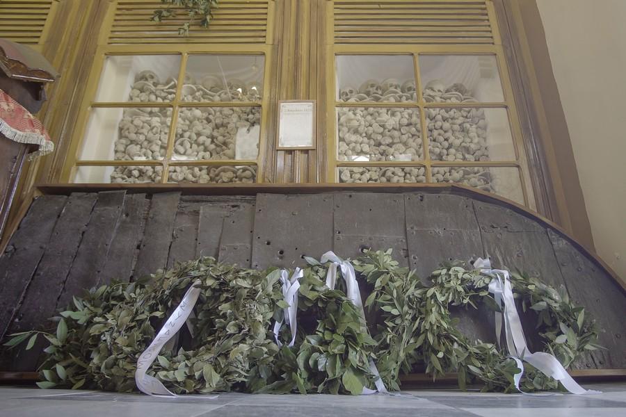 Χίου Μάρκος: «Εδώ θρηνούμε τον χαμό της κόρης του Ομήρου» -Η Ι.Μ. Χίου ετίμησε την σφαγή του 1822 στην ιστορική Ι.Μονή Αγίου Μηνά
